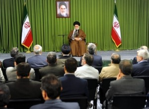 Khamenei at IRIB Meeting (Photo credit: ABNA)