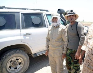 General Qasem Soleimani with Popular mobilization forces around Fallujah