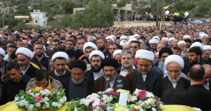 Safieddine at Al Hajj Funeral (Photo Credit: aBNA)