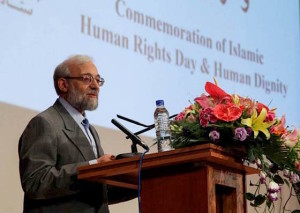 Javad Larijani on Iran Human Rights Day, 2014 (Photo Credit- ISNA)