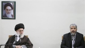 Khamenei with Mashael from Hamas, 2016 (Photo Credit- Reuters)