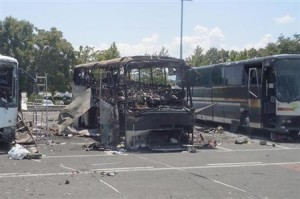 Aftermath of Burgas Bus Bombing in Bulgaria by Hezbollah, 2012 (Photo Credit: Reuters)