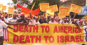"Iranians chanting ""Death To America"" and ""Death To Israel"" (Photo Credit: )"