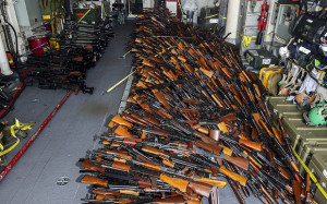 More than 2,000 weapons were found hidden in an Iranian boat off the coast of Oman that was bound for Yemen (Photo Credit: Reuters)