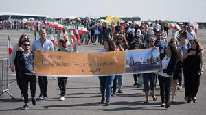 Free Iran Rally in Paris (Photo Credit: Saudi Gazette )